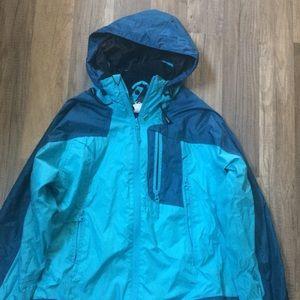 Cute Blue Size Small Waterproof Rain Jacket ☔️